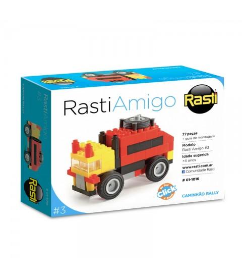 Blocos de Montar Caminhão Rally - Coleção Rasti Amigo
