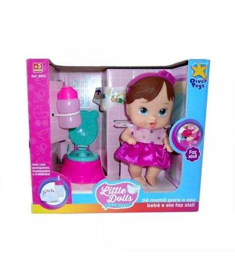 Boneca Little Dolls Faz Xixi - Cabelo Escuro