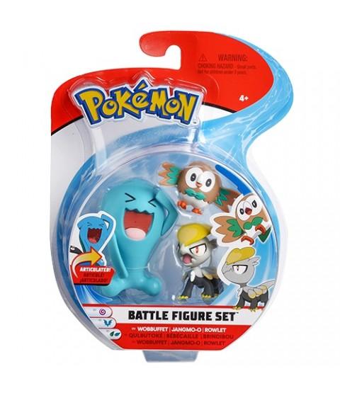 Pokémon - 3 Bonecos  Wobbuffet / Rowlet / Jangmo-o