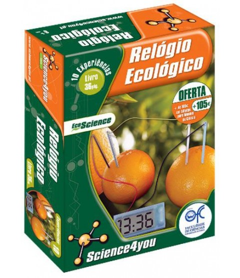 Relógio Ecológico - Science4you