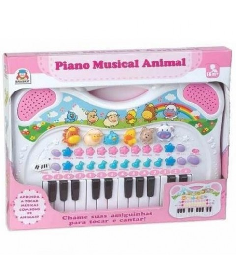 Piano Musical Animal (Rosa)