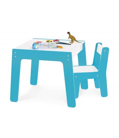 Conjunto de Mesa + Cadeira Infantil - Azul