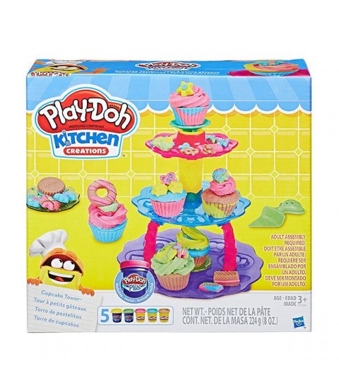 Massinha Play Doh Torre de Cupcake