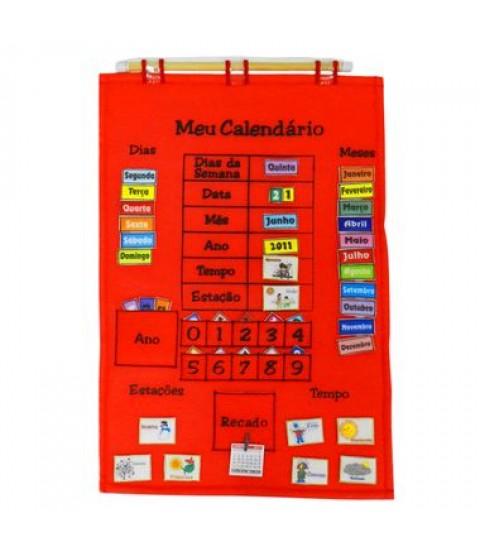Calendário de Tecido - Português - Vermelho