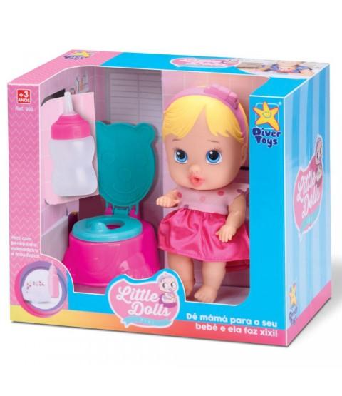 Boneca Little Dolls Faz Xixi - Cabelo Claro