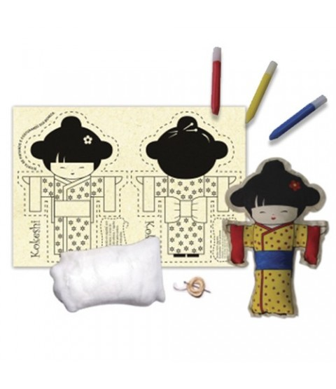 Boneca de Pano Kokeshi