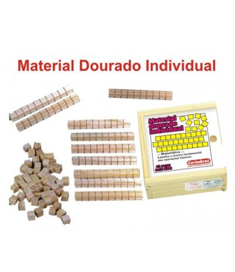 Material Dourado Individual 111pçs (Caixa de Madeira)