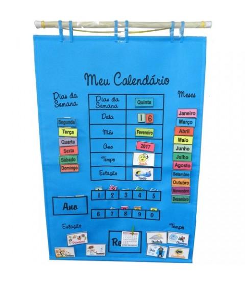 Calendário de Tecido - Português - Azul