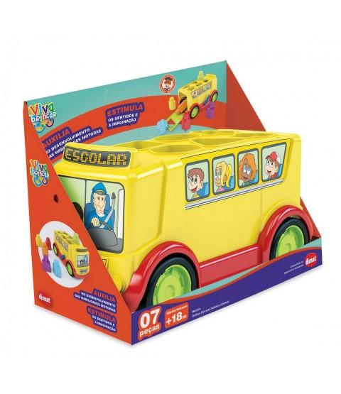 Ônibus Escolar Didático 07 pçs - Dismat