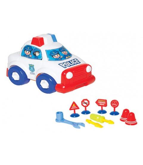 Carrinho Construtivo - Polícia