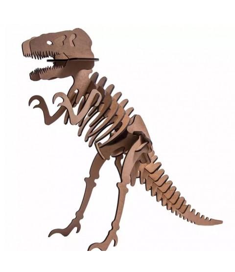 QC 3D Dinossauro Tiranossauro Rex 29 peças MDF