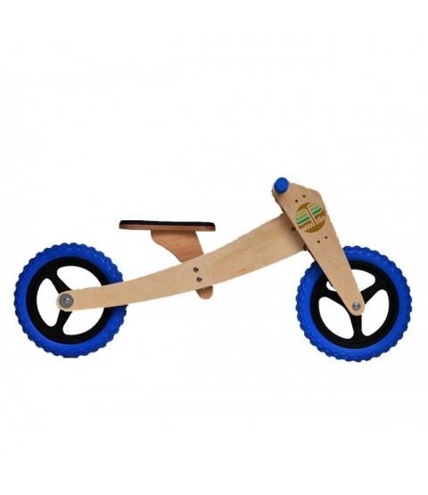 Bicicleta de Madeira 02 em 01 - Woodbike Azul