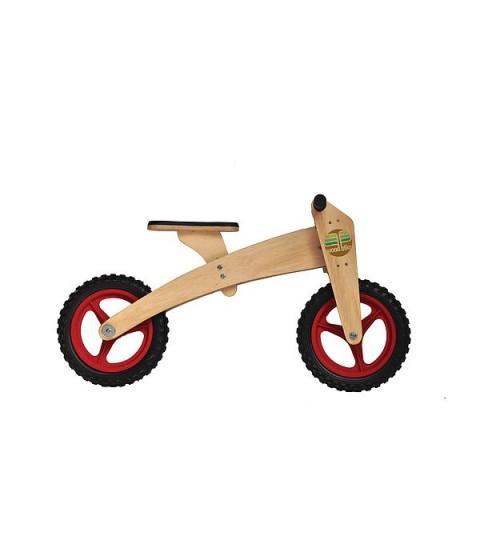 Bicicleta de Madeira 02 em 01 - Woodbike Vermelho