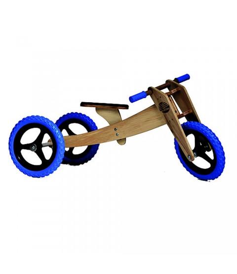 Bicicleta de Madeira 03 em 01 - Woodbike Azul