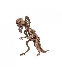 QC 3D Dinossauro Dilofossauro 40 peças MDF