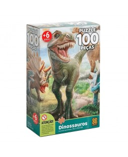 Puzzle Dinossauros - 100 peças