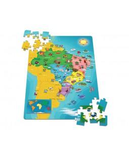 QC Mapa do Brasil - 100 Peças