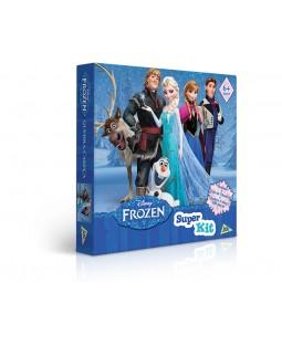Super Kit com Quebra-Cabeça / Dominó / Jogo da Memória - Frozen