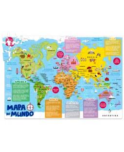 QC Mapa do Mundo - 200 Peças