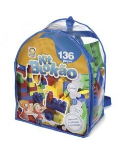 Blocos de Montar Kit Blokão Colorido 136 Peças - Kitstar
