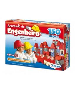 Brincando de Engenheiro - 150 Peças em madeira