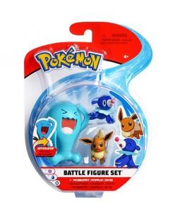 Pokémon - 3 Bonecos  Wobbuffet / Popplio / Eevee