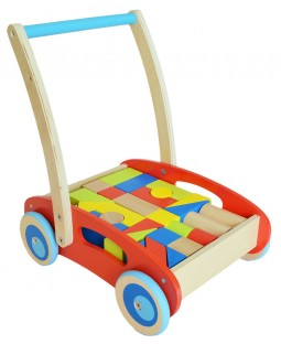 Andador de Madeira com Peças para Montagem - Tooky Toy