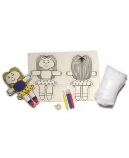 Boneca de Pano (boneca para costurar e pintar)
