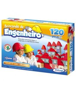 Brincando de Engenheiro - 120 Peças em madeira
