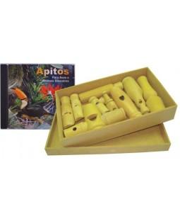Caixa de Apitos de Aves Silvestres com tampa e CD