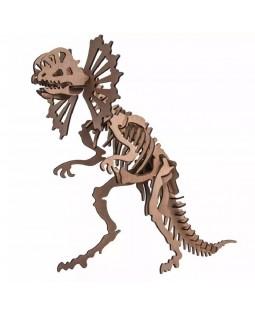QC 3D Dinossauro Alossauro 44 peças MDF