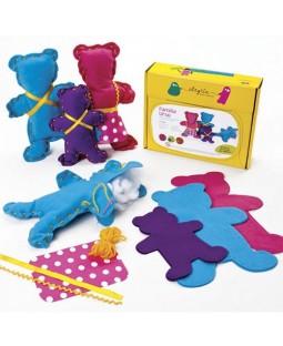 Família Urso - Boneca de Feltro para Costurar