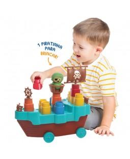 Fofo Blocos Barco Pirata - 14 Peças