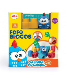 Fofo Blocos 15 Peças Galinha Pintadinha Mini