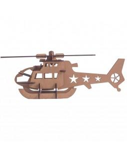 QC 3D Helicóptero 23 peças MDF
