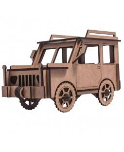 QC 3D Carro Jeep 39 peças MDF