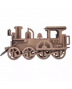 QC 3D Trem Locomotiva 36 peças MDF