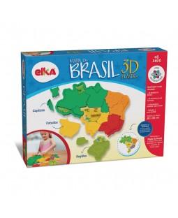 Mapa do Brasil 3D Plástico