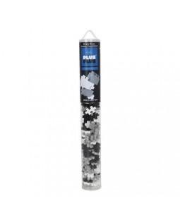 Plus-Plus Grayscale Basic Tube 100 peças