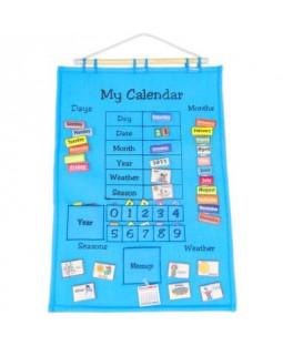 Calendário de Tecido - Inglês