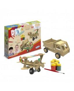 QC DIY Avião e Caminhão 3D para Pintura