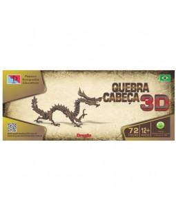 QC 3D Dragão Chinês 72 peças MDF