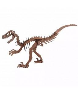 QC 3D Dinossauro Raptor 36 peças MDF