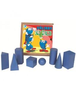 Sólidos Geométricos em madeira - 8 peças