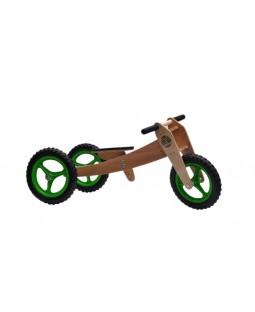 Bicicleta de Madeira 03 em 01 - Woodbike Verde